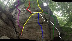 Rock Climbing Photo: white line