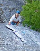 Rock Climbing Photo: Nice flake, good gear