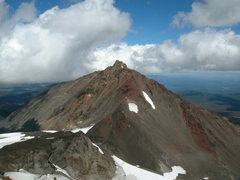 Rock Climbing Photo: North Sister. Photo taken from Middle Sister, late...