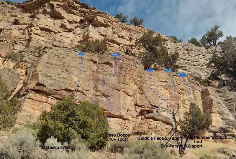 Rock Climbing Photo: Main Wall.
