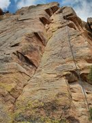 Rock Climbing Photo: Chupacabra is on the right where the rope is. Dihe...
