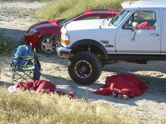 Rock Climbing Photo: Party on rednecks at Vantage!
