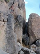Rock Climbing Photo: Me about to hit the sketchy slabness. Easy, just n...