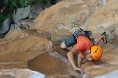 Rock Climbing Photo: smilin jay up high