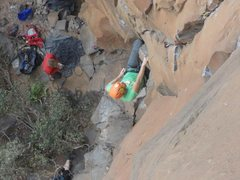 Rock Climbing Photo: casey w/ the catch