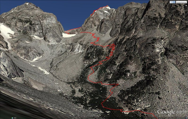 Rock Climbing Photo: This photo shows the trails located directly above...