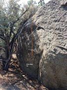 Rock Climbing Photo: Dopeman East Face Topo