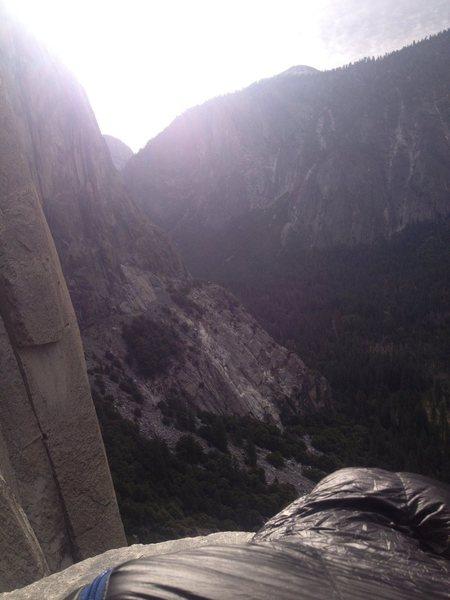 Rock Climbing Photo: Waking up on dolt.