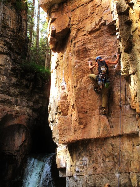 Rock Climbing Photo: On the start of One Summer's Eve. Long and aesthet...