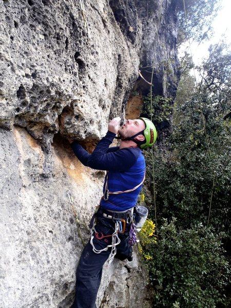 Rock Climbing Photo: That Euro chalk blow!