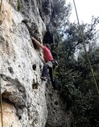 Rock Climbing Photo: stretching into the undercling