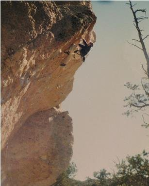 Me on Frog Prince out at Enchanted Tower, NM.  Super fun route.