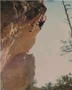Rock Climbing Photo: Me on Frog Prince out at Enchanted Tower, NM.  Sup...