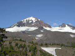 Rock Climbing Photo: Middle Sister and Prouty Peak from the East. Photo...