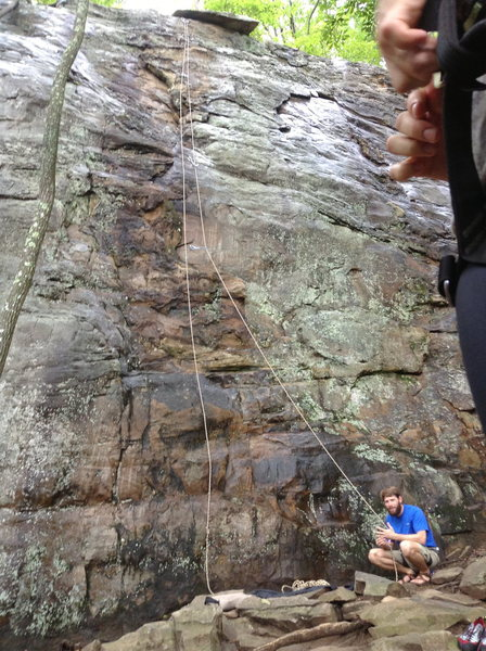 Rock Climbing Photo: Little wet this day, but still very doable because...