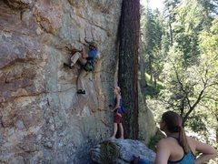 Rock Climbing Photo: Great start. Fun climb from bottom to top.
