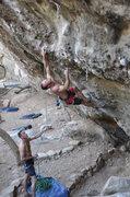 Rock Climbing Photo: Tom low on White Cougar.