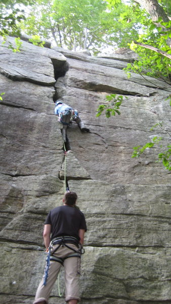 Rock Climbing Photo: Bostonian knee bar