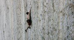 Rock Climbing Photo: Seth Lytton in the meat of Bushido before taking d...