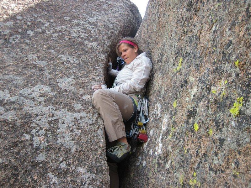 Rock Climbing Photo: Offwidths!