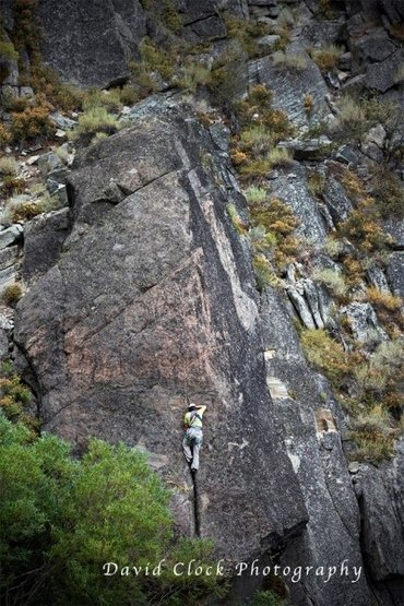 Dan Kennedy on Bottom Feeder 5.10+. Credit: D. Clock