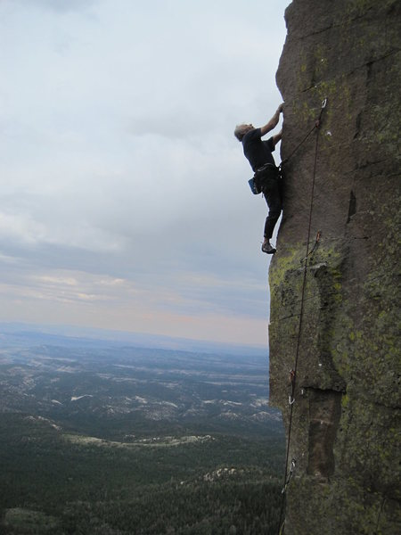 Rock Climbing Photo: Super arete climbing.