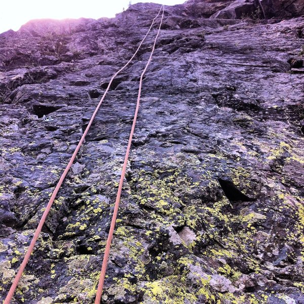 Rock Climbing Photo: Watch out for lichen and loose rocks! The bolts ar...