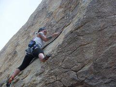 Rock Climbing Photo: Leading some fun slab