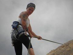 Rock Climbing Photo: thinking hard lol
