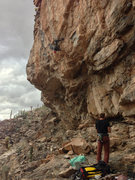 Alex Kirkpatrick demolishing the crux sequence
