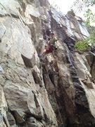 Rock Climbing Photo: Hard at working lifting the mood.