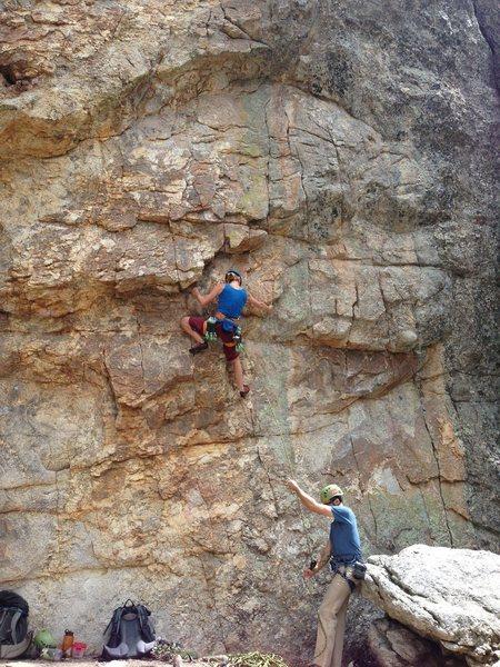 Rock Climbing Photo: Be the lizard.