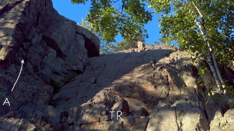 Rock Climbing Photo: Hang-On Harvey & TR Wall