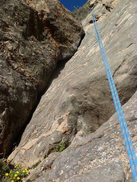 A good view of the crack (if you want to place gear).