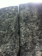 Rock Climbing Photo: The overhanging crux