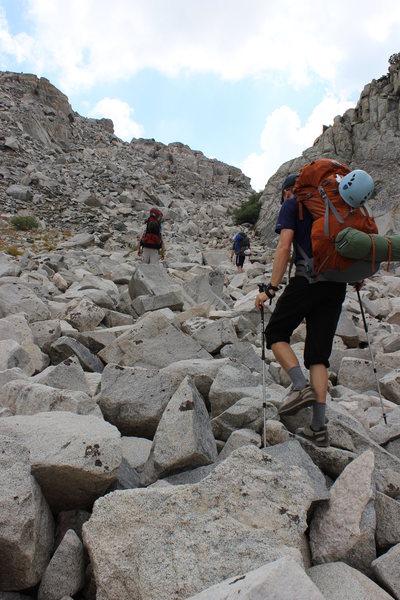 Rock Climbing Photo: Talus approach