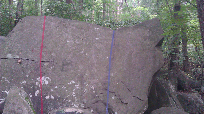 Red - Fun Boulder Slab <br> Blue - Open Book