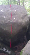 Rock Climbing Photo: Start on the slopers above bulge.