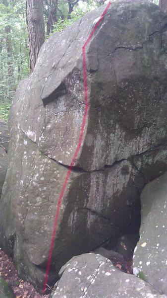 Climb the arete.