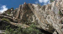 Rock Climbing Photo: Chris Perkins on Overhangutang.  Photo by Lyle Knu...