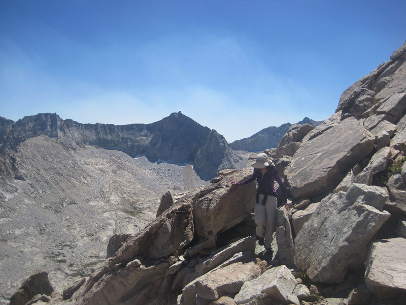 Rock Climbing Photo: Sara Susca on the South Ridge of Whaleback.