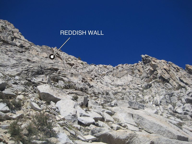 Final part of the route leading to the south ridge.