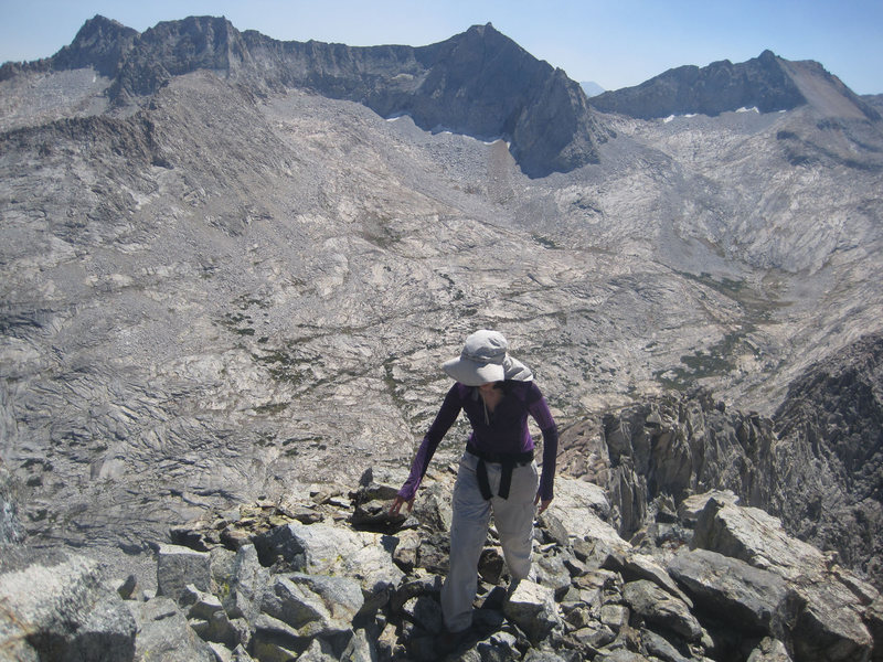 Rock Climbing Photo: Sara Susca almost at the summit.