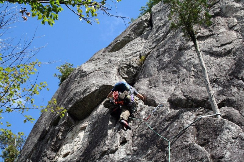 Rock Climbing Photo: Me leading during MCA North Shore Gathering weeken...