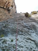 70m abseiling ! (a 50m double rope make the job, but having two 70m ropes permits to skip the last abseiling)