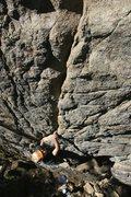 Rock Climbing Photo: Jesse Cirillo on Huberts Revenge.