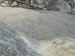Rock Climbing Photo: Looking down the amazing finish.