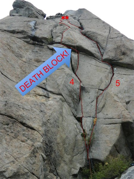 Rock Climbing Photo: The start has had the gunk removed that is seen in...