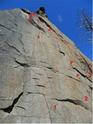 Rock Climbing Photo: Red Mamba, Afro Blue and The Great Divide.