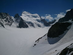 The Barre and the Dome, view from the refuge des Ecrins